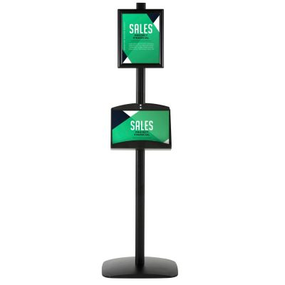 free-standing-stand-in-black-color-with-2-x-8.5x11-frame-in-portrait-and-landscape-and-2-2-x-5.5x8.5-steel-shelf-double-sided-4