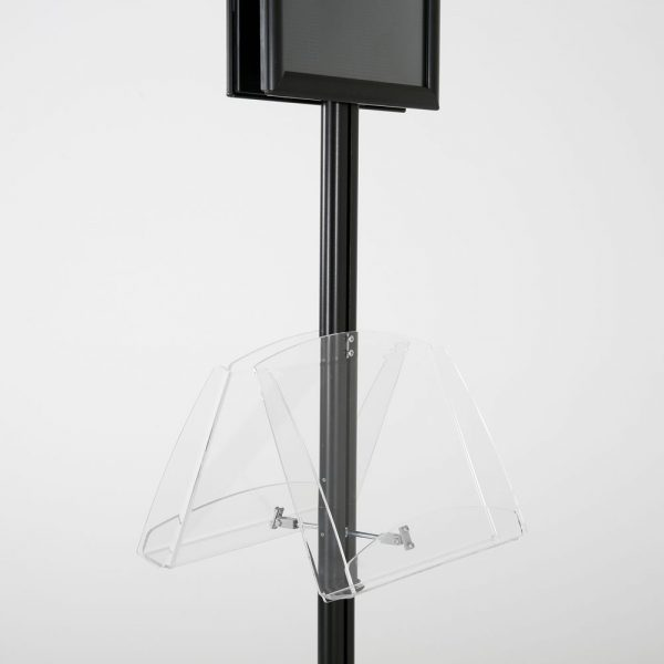 free-standing-stand-in-black-color-with-2-x-8.5x11-frame-in-portrait-and-landscape-and-2-2-x-8.5x11-clear-shelf-in-acrylic-double-sided-8