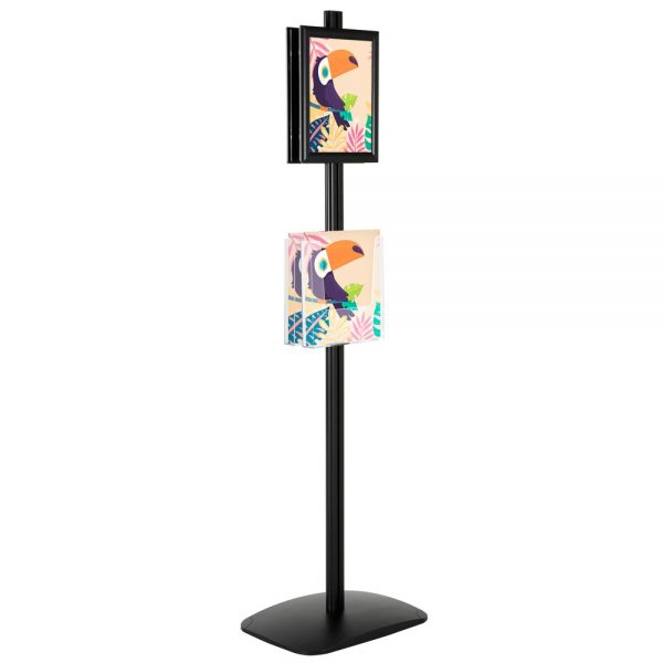 free-standing-stand-in-black-color-with-2-x-8.5x11-frame-in-portrait-and-landscape-and-2-x-8.5x11-clear-pocket-shelf-double-sided-4
