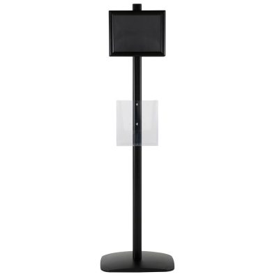 free-standing-stand-in-black-color-with-2-x-8.5x11-frame-in-portrait-and-landscape-and-2-x-8.5x11-clear-pocket-shelf-double-sided-6