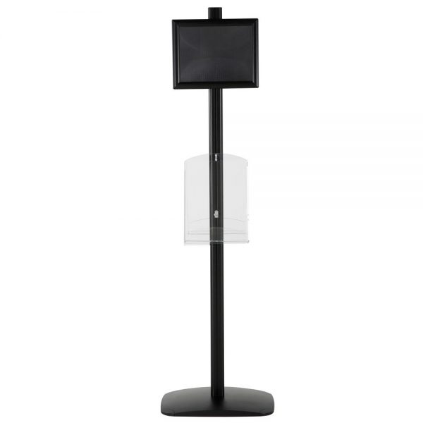 free-standing-stand-in-black-color-with-2-x-8.5x11-frame-in-portrait-and-landscape-and-2-x-8.5x11-clear-shelf-in-acrylic-double-sided-8