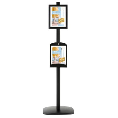 free-standing-stand-in-black-color-with-2-x-8.5x11-frame-in-portrait-and-landscape-and-2-x-8.5x11-steel-shelf-double-sided-4