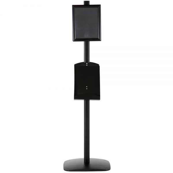 free-standing-stand-in-black-color-with-2-x-8.5x11-frame-in-portrait-and-landscape-and-2-x-8.5x11-steel-shelf-double-sided-5