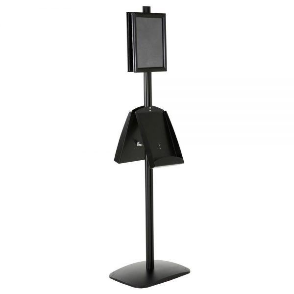 free-standing-stand-in-black-color-with-2-x-8.5x11-frame-in-portrait-and-landscape-and-2-x-8.5x11-steel-shelf-double-sided-6