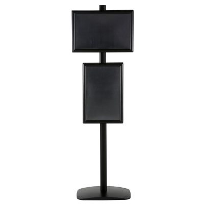 free-standing-stand-in-black-color-with-4-x-11x17-frame-in-portrait-and-landscape-position-double-sided-11Free Standing Stand In Silver Color