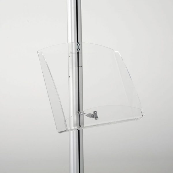 free-standing-stand-in-silver-color-with-1-x-11X17-frame-in-portrait-and-landscape-and-1-2-x-8.5x11-clear-shelf-in-acrylic-single-sided-11