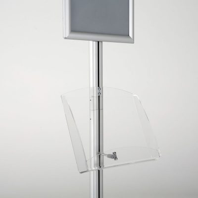 free-standing-stand-in-silver-color-with-1-x-11X17-frame-in-portrait-and-landscape-and-1-2-x-8.5x11-clear-shelf-in-acrylic-single-sided-12