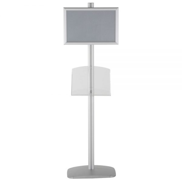 free-standing-stand-in-silver-color-with-1-x-11X17-frame-in-portrait-and-landscape-and-1-2-x-8.5x11-clear-shelf-in-acrylic-single-sided-13