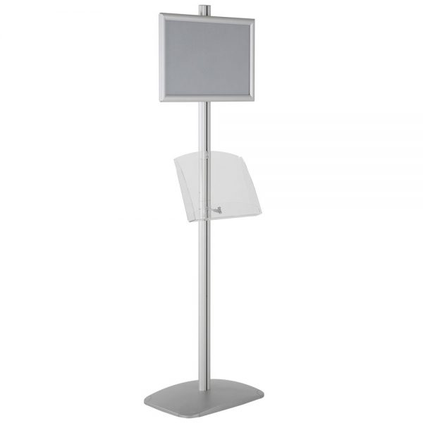 free-standing-stand-in-silver-color-with-1-x-11X17-frame-in-portrait-and-landscape-and-1-2-x-8.5x11-clear-shelf-in-acrylic-single-sided-15