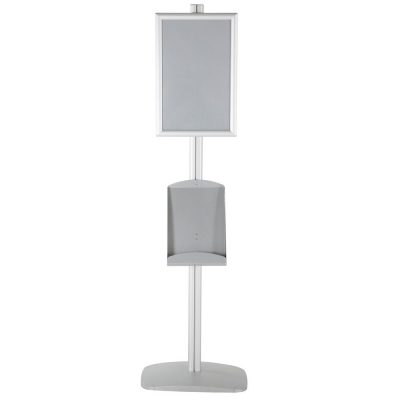 free-standing-stand-in-silver-color-with-1-x-11X17-frame-in-portrait-and-landscape-and-1-x-8.5x11-steel-shelf-single-sided-5