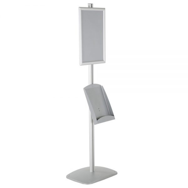 free-standing-stand-in-silver-color-with-1-x-11X17-frame-in-portrait-and-landscape-and-1-x-8.5x11-steel-shelf-single-sided-6