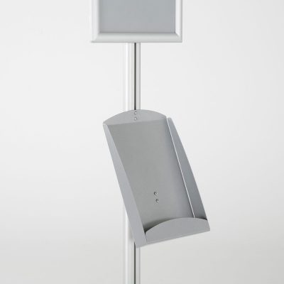 free-standing-stand-in-silver-color-with-1-x-11X17-frame-in-portrait-and-landscape-and-1-x-8.5x11-steel-shelf-single-sided-9