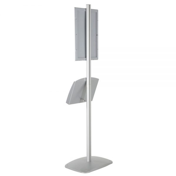 free-standing-stand-in-silver-color-with-1-x-11X17-frame-in-portrait-and-landscape-and-2-x-5.5x8.5-steel-shelf-single-sided-16