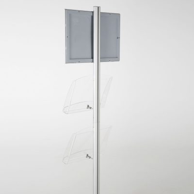 free-standing-stand-in-silver-color-with-1-x-11X17-frame-in-portrait-and-landscape-and-2-x-8.5x11-clear-shelf-in-acrylic-single-sided-11