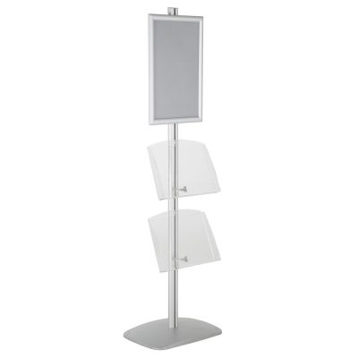 free-standing-stand-in-silver-color-with-1-x-11X17-frame-in-portrait-and-landscape-and-2-x-8.5x11-clear-shelf-in-acrylic-single-sided-13