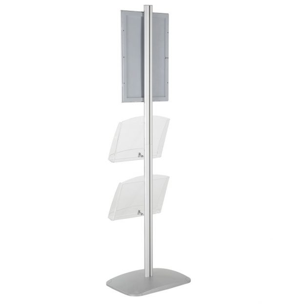 free-standing-stand-in-silver-color-with-1-x-11X17-frame-in-portrait-and-landscape-and-2-x-8.5x11-clear-shelf-in-acrylic-single-sided-14