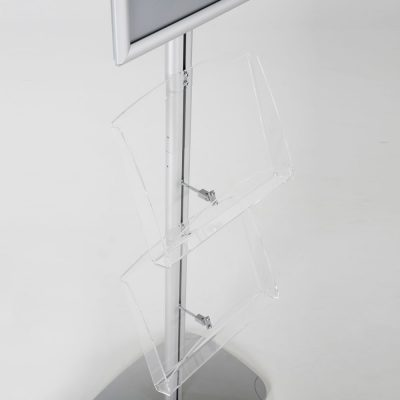 free-standing-stand-in-silver-color-with-1-x-11X17-frame-in-portrait-and-landscape-and-2-x-8.5x11-clear-shelf-in-acrylic-single-sided-17