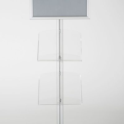free-standing-stand-in-silver-color-with-1-x-11X17-frame-in-portrait-and-landscape-and-2-x-8.5x11-clear-shelf-in-acrylic-single-sided-7