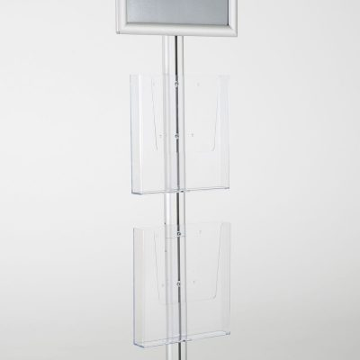 free-standing-stand-in-silver-color-with-1-x-11X17-frame-in-portrait-and-landscape-and-2-x-8.5x11-steel-shelf-single-sided-11