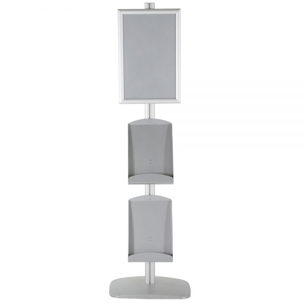 free-standing-stand-in-silver-color-with-1-x-11X17-frame-in-portrait-and-landscape-and-2-x-8.5x11-steel-shelf-single-sided-12
