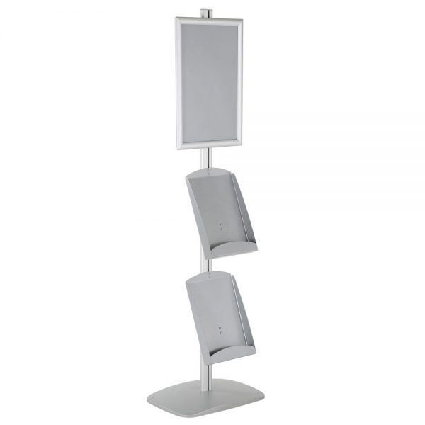 free-standing-stand-in-silver-color-with-1-x-11X17-frame-in-portrait-and-landscape-and-2-x-8.5x11-steel-shelf-single-sided-13