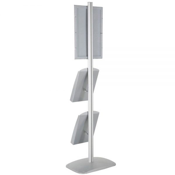 free-standing-stand-in-silver-color-with-1-x-11X17-frame-in-portrait-and-landscape-and-2-x-8.5x11-steel-shelf-single-sided-16