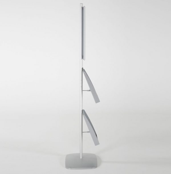 free-standing-stand-in-silver-color-with-1-x-11X17-frame-in-portrait-and-landscape-and-2-x-8.5x11-steel-shelf-single-sided-18