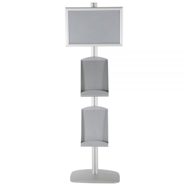 free-standing-stand-in-silver-color-with-1-x-11X17-frame-in-portrait-and-landscape-and-2-x-8.5x11-steel-shelf-single-sided-19