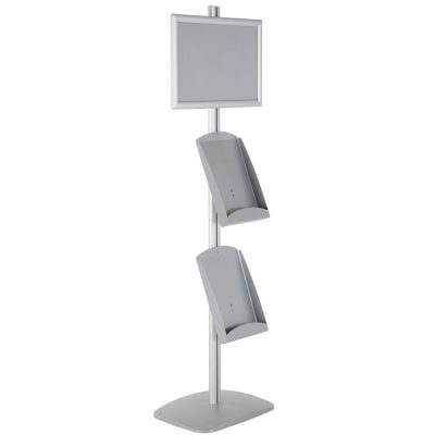 free-standing-stand-in-silver-color-with-1-x-11X17-frame-in-portrait-and-landscape-and-2-x-8.5x11-steel-shelf-single-sided-20