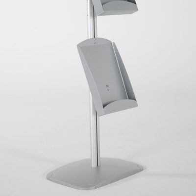 free-standing-stand-in-silver-color-with-1-x-11X17-frame-in-portrait-and-landscape-and-2-x-8.5x11-steel-shelf-single-sided-22