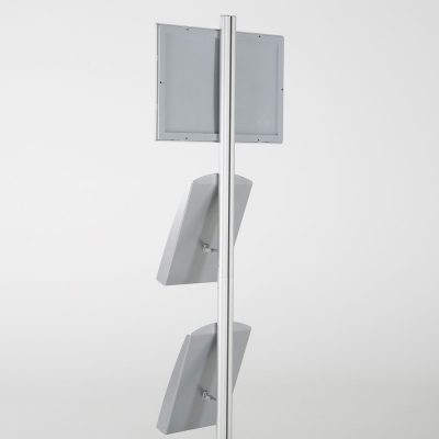 free-standing-stand-in-silver-color-with-1-x-11X17-frame-in-portrait-and-landscape-and-2-x-8.5x11-steel-shelf-single-sided-24