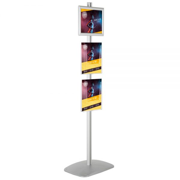 free-standing-stand-in-silver-color-with-1-x-11X17-frame-in-portrait-and-landscape-and-2-x-8.5x11-steel-shelf-single-sided-5