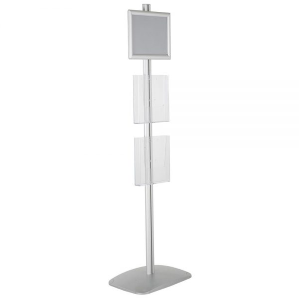 free-standing-stand-in-silver-color-with-1-x-11X17-frame-in-portrait-and-landscape-and-2-x-8.5x11-steel-shelf-single-sided-7
