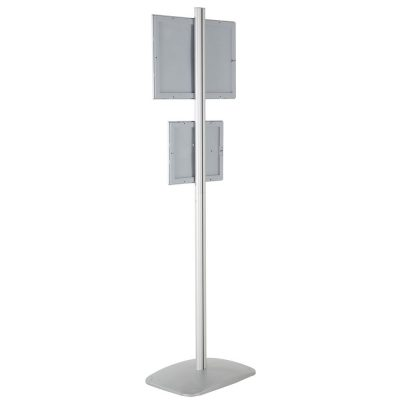 free-standing-stand-in-silver-color-with-1-x-11x17-frame-and-1-x-8.5x11-frame-in-portrait-and-landscape-position-single-sided