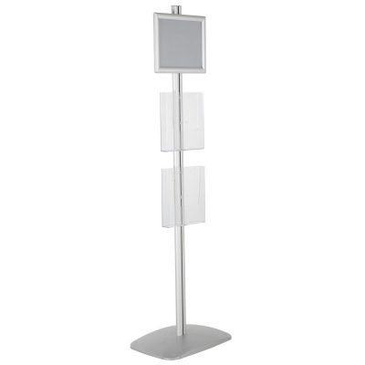 free-standing-stand-in-silver-color-with-1-x-8.5X11-frame-in-portrait-and-landscape-and-2-x-8.5x11-clear-pocket-shelf-single-sided-14