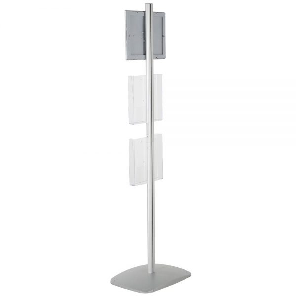 free-standing-stand-in-silver-color-with-1-x-8.5X11-frame-in-portrait-and-landscape-and-2-x-8.5x11-clear-pocket-shelf-single-sided-15