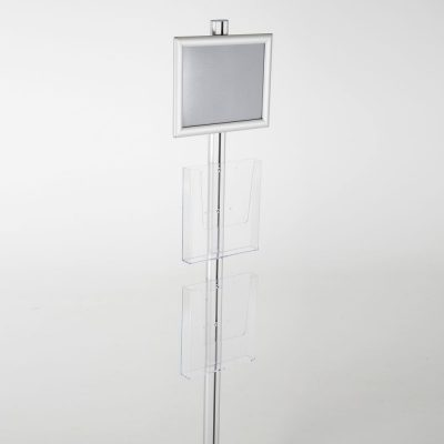 free-standing-stand-in-silver-color-with-1-x-8.5X11-frame-in-portrait-and-landscape-and-2-x-8.5x11-clear-pocket-shelf-single-sided-17