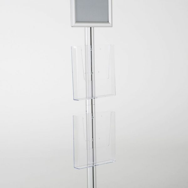 free-standing-stand-in-silver-color-with-1-x-8.5X11-frame-in-portrait-and-landscape-and-2-x-8.5x11-clear-pocket-shelf-single-sided-9