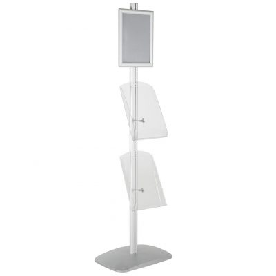 free-standing-stand-in-silver-color-with-1-x-8.5X11-frame-in-portrait-and-landscape-and-2-x-8.5x11-clear-shelf-in-acrylic-single-sided-10