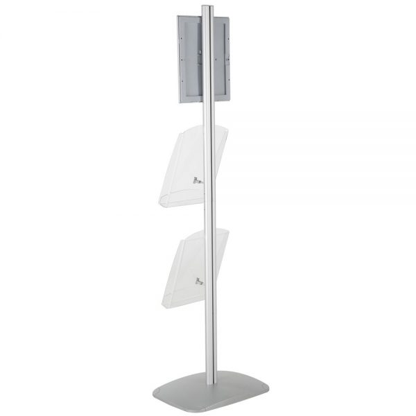 free-standing-stand-in-silver-color-with-1-x-8.5X11-frame-in-portrait-and-landscape-and-2-x-8.5x11-clear-shelf-in-acrylic-single-sided-12