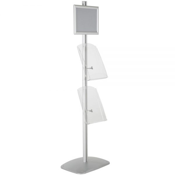 free-standing-stand-in-silver-color-with-1-x-8.5X11-frame-in-portrait-and-landscape-and-2-x-8.5x11-clear-shelf-in-acrylic-single-sided-4