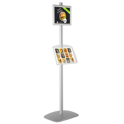 free-standing-stand-in-silver-color-with-1-x-8.5x11-frame-in-portrait-and-landscape-and-1-2-x-8.5x11-clear-shelf-in-acrylic-single-sided-4
