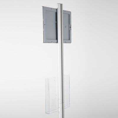 free-standing-stand-in-silver-color-with-1-x-8.5x11-frame-in-portrait-and-landscape-and-1-x-8.5x11-clear-pocket-shelf-single-sided-11