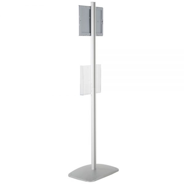free-standing-stand-in-silver-color-with-1-x-8.5x11-frame-in-portrait-and-landscape-and-1-x-8.5x11-clear-pocket-shelf-single-sided-12