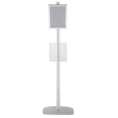 free-standing-stand-in-silver-color-with-1-x-8.5x11-frame-in-portrait-and-landscape-and-1-x-8.5x11-clear-pocket-shelf-single-sided-15
