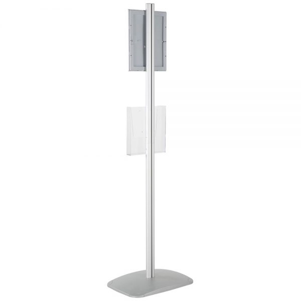 free-standing-stand-in-silver-color-with-1-x-8.5x11-frame-in-portrait-and-landscape-and-1-x-8.5x11-clear-pocket-shelf-single-sided-17