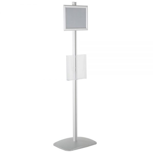 free-standing-stand-in-silver-color-with-1-x-8.5x11-frame-in-portrait-and-landscape-and-1-x-8.5x11-clear-pocket-shelf-single-sided-5