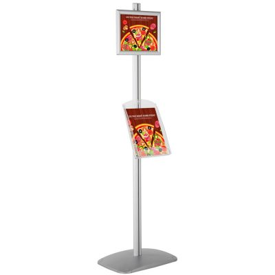 free-standing-stand-in-silver-color-with-1-x-8.5x11-frame-in-portrait-and-landscape-and-1-x-8.5x11-clear-shelf-in-acrylic-single-sided-4