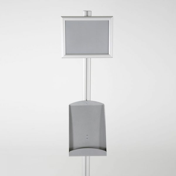 free-standing-stand-in-silver-color-with-1-x-8.5x11-frame-in-portrait-and-landscape-and-1-x-8.5x11-steel-shelf-single-sided-12