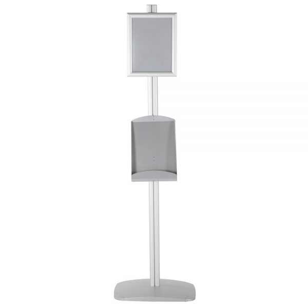free-standing-stand-in-silver-color-with-1-x-8.5x11-frame-in-portrait-and-landscape-and-1-x-8.5x11-steel-shelf-single-sided-13